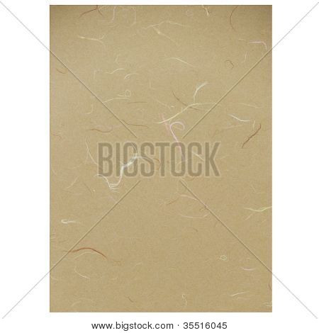 Light Brown Rice Paper Texture On White Background