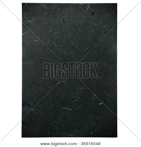 Black Rice Paper Texture On White Background