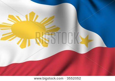 Rendered Philippine Flag
