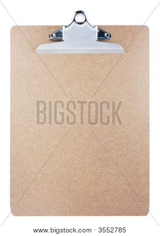 Clipboard Isolated On White Background With Clipping Path.