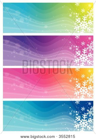 moderne Banner mit Schneeflocken