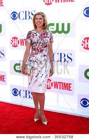 LOS ANGELES - JUL 29:  Christine Baranski arrives at the CBS, CW, and Showtime 2012 Summer TCA party at Beverly Hilton Hotel Adjacent Parking Lot on July 29, 2012 in Beverly Hills, CA