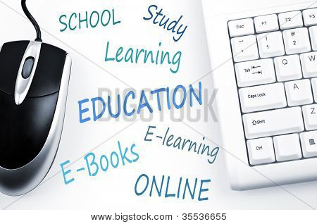 Education word scheme and computer keyboard