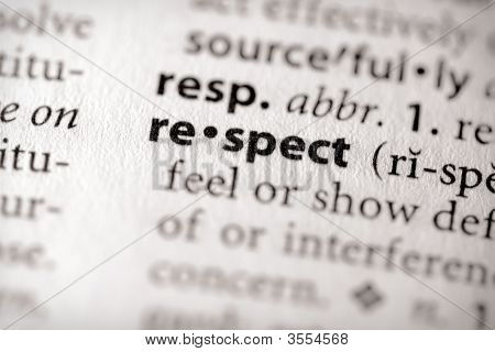 Dictionary Series - Attributes: Respect