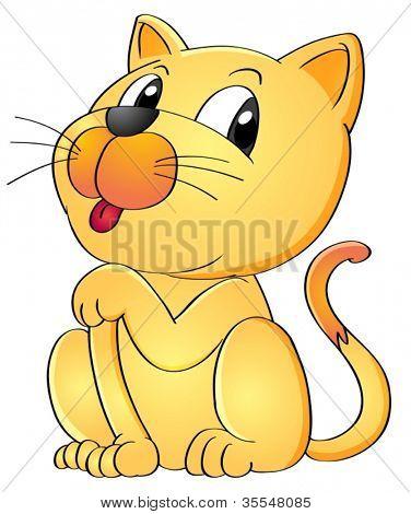 ilustração de um gato sobre um fundo branco