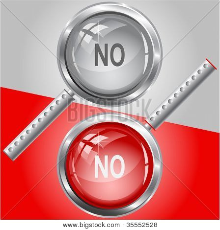 No. Raster magnifying glass. Vector version is in my portfolio.