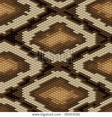 Seamless python snake skin pattern. Vector illustration.