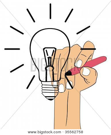 Hand Drawing Bulb