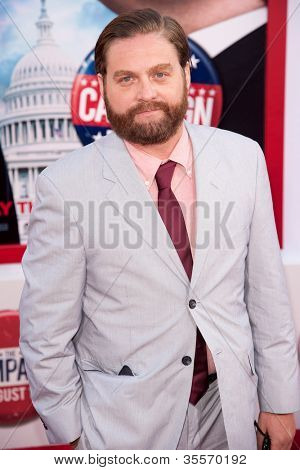HOLLYWOOD, CA - AUG 2: Actor Zach Galifianakis arrives at the premiere of Warner Bros. Pictures ' The Campaign' at Grauman's Chinese Theatre on August 2, 2012 in Hollywood, California.