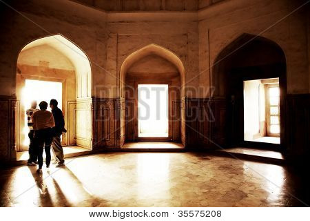 Interior of Taj Mahal in India, Agra, Uttar Pradesh
