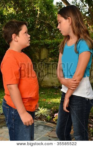 Brother and Sister Talking