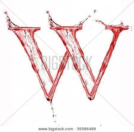 Red liquid letter