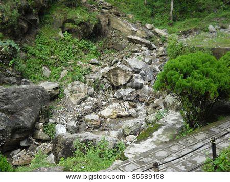 waterfall in Darjeeling west bengal rock garden
