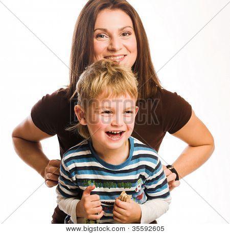 Mutter mit dem Sohn