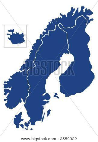 skandinavischen Karte