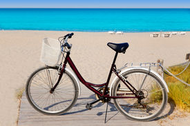 picture of tanga  - Bicycle in formentera beach on Balearic islands at Levante East Tanga - JPG