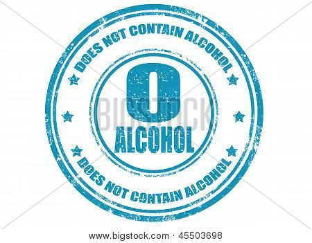 Not Contain Alcohol-stamp