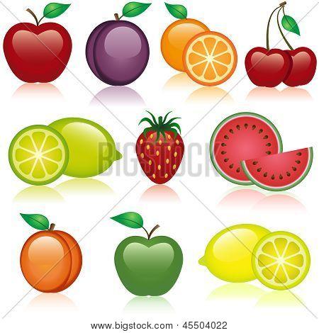 Iconos de la fruta