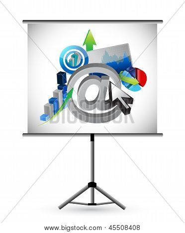 Business And Web Presentation Illustration Design