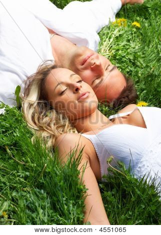 Love Couple Sleeping