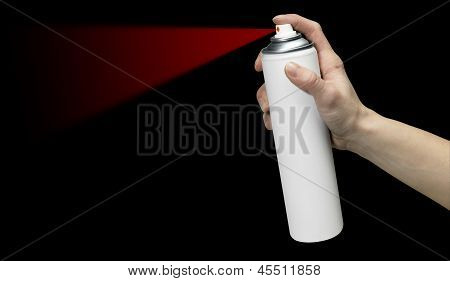 Hand And Aerosol Can