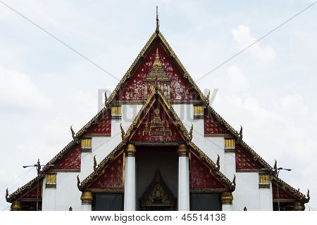 Templo de Bophit Mahamongkol, Ayutthaya, Tailândia