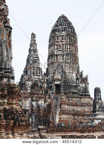 Ancient Pagoda, Chai Wattanaram Temple, Ayutthaya, Thailand