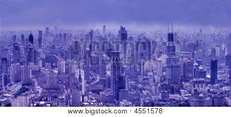 Bird's Eye View Of Shanghai Skyline