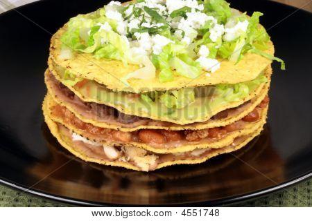 Mexican Tostada Ahogada