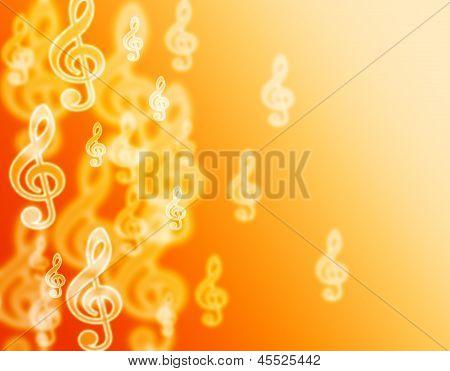 Music violin clef.