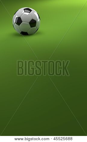 Football On Green Background