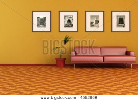 Living Room With Old Photo