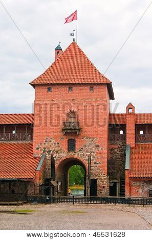 The Central Tower Of The Castle In Trakai