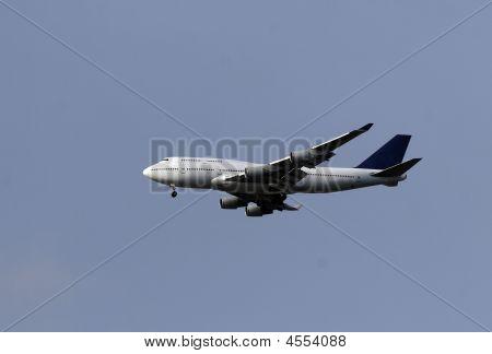 Passenger Airliner In Flight