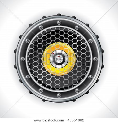 Abstract Speaker And Volume Knob Design