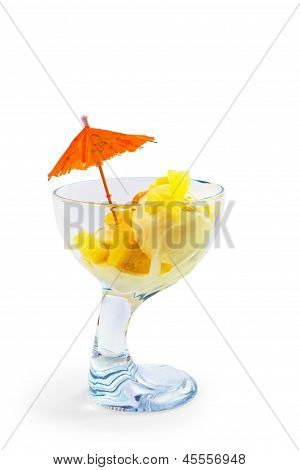 ice food cream and cup a isolated white background
