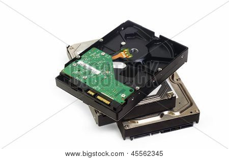 s-ata hard drive isolated on white background