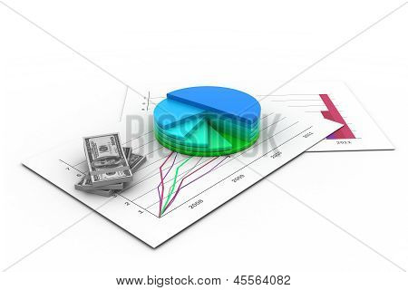 financial graph with chart