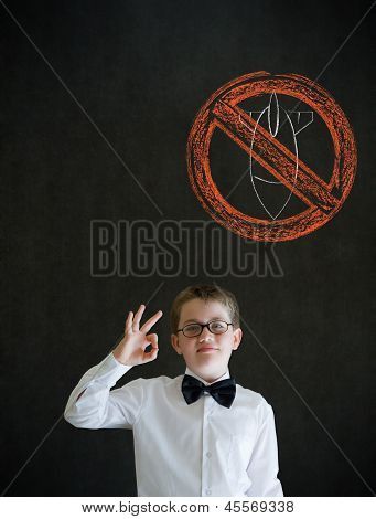 All Ok Boy Business Man With  No Bombs War Pacifist Sign