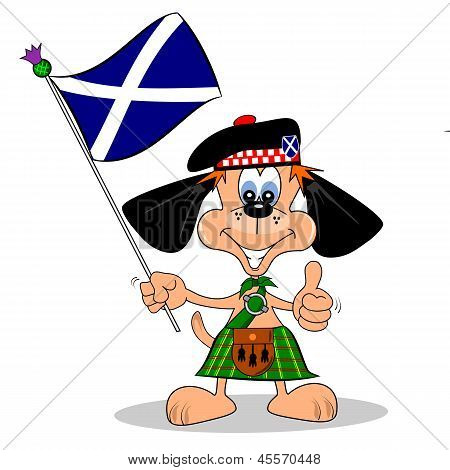 Scottish Cartoon Dog