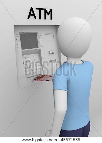 Man Picking Money