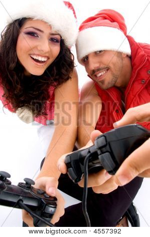 Brother And Sister Playing Video Game
