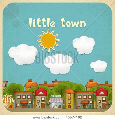 Pequenas casas de cor da cidade
