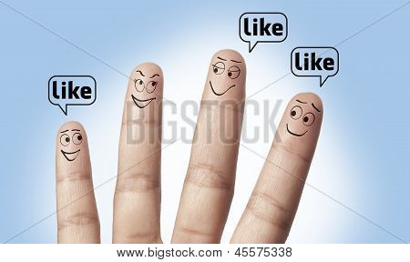 a group of finger like