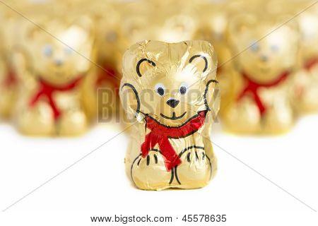 Chocolate Bears In Line