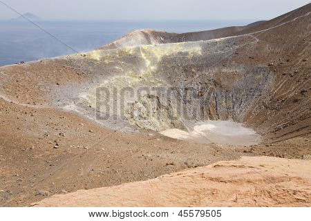 The Fossa Crater On Vulcano, Italy
