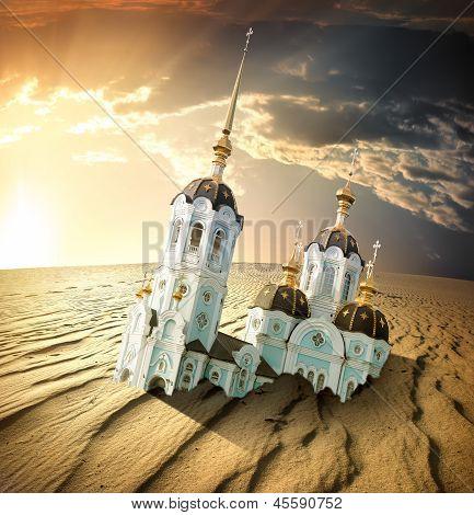 Church in desert