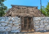 stock photo of pueblo  - Typical home in The Yucatan little towns called  - JPG