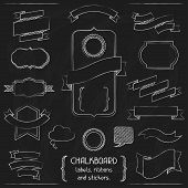 foto of outline  - Chalkboard labels - JPG
