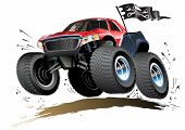 picture of monster-truck  - Vector Cartoon Buggy - JPG